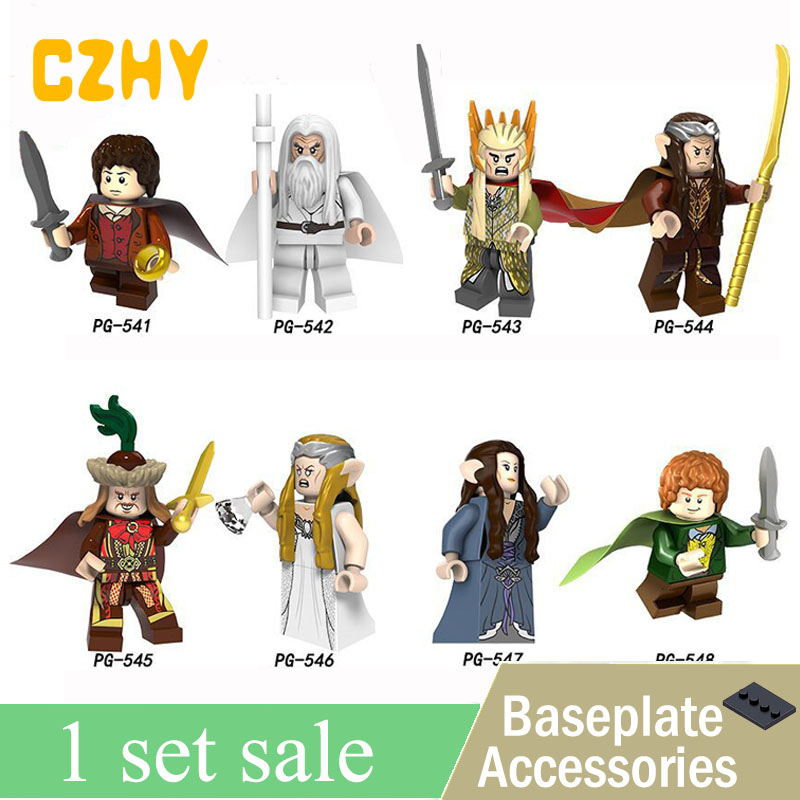 Frodo The Lord of the Rings Figure Gandalf Thranduil Elrond Galadriel Merry Arwen Building Block Gifts Toys for Children PG8148 new women elegant white dress up clothes lord of the rings the hobbit lady galadriel cosplay costume fariy dress customized