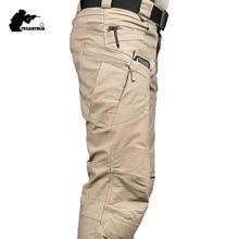 New Mens Tactical Pants Multiple Pocket Elasticity Military
