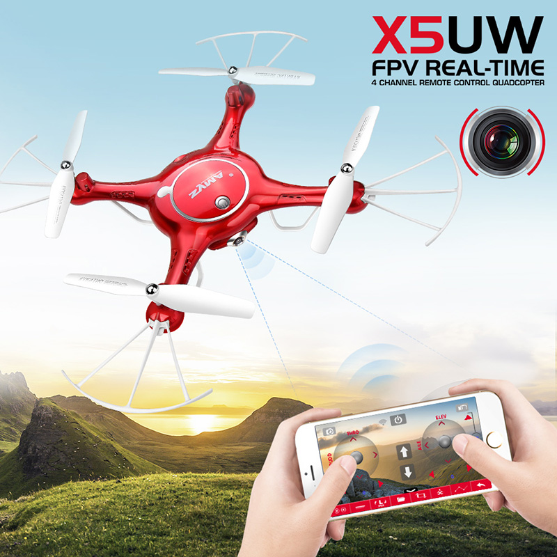 SYMA X5UW RC Drone With Camera HD Wifi FPV Real-time Transmission Quadrocopter Helicopter Drones SmartPhone Control Dron Toys syma x5uw drone wifi camera hd 720p real time transmission fpv 2 4g 4ch rc helicopter quadrocopter mobile control vs x5sw x5c