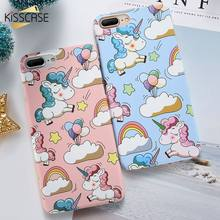 KISSCASE Cute Unicorn Pattern Case For iPhone X XR XS MAX 7 8 6 6S Plus Ultra-thin Hard PC Case For iPhone 5 5S SE Cover #5(China)