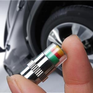 Image 2 - 4 Pcs Auto Warnung Druck, Reifen, Rad Air Ventil Kappen Abdeckung Für Citroen C5 C4 C3 C2 Mini Cooper Opel astra H G J Vectra C Saab