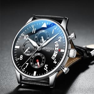 Image 1 - Mens Watch Top Brand Luxury Men Wristwatch Clock Fashion Sport Quartz Watches Male Military Waterproof Chronograph Clock relojes