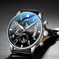 Reloj de pulsera de lujo para hombre, relojes deportivos de cuarzo a la moda, reloj cronógrafo militar resistente al agua para hombre