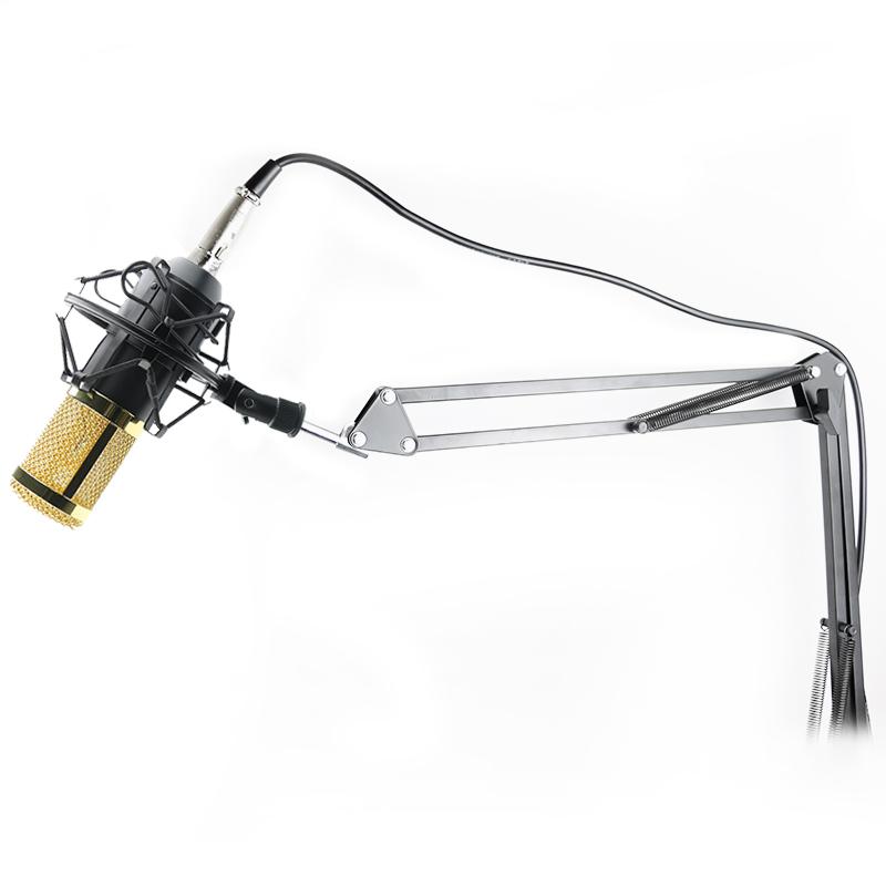 Prix pour Professionnel KTV Microphone BM800 Microphone À Condensateur Pro Audio Studio Vocal Enregistrement Mic KTV Karaoké Métal Shock Mount MB 800