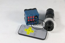 Бесплатная доставка 2.0MP CMOS HD Цифровой ИК-Пульт Дистанционного Управления VGA Микроскоп Промышленности Камера + 120X C-mount Оптических Линз