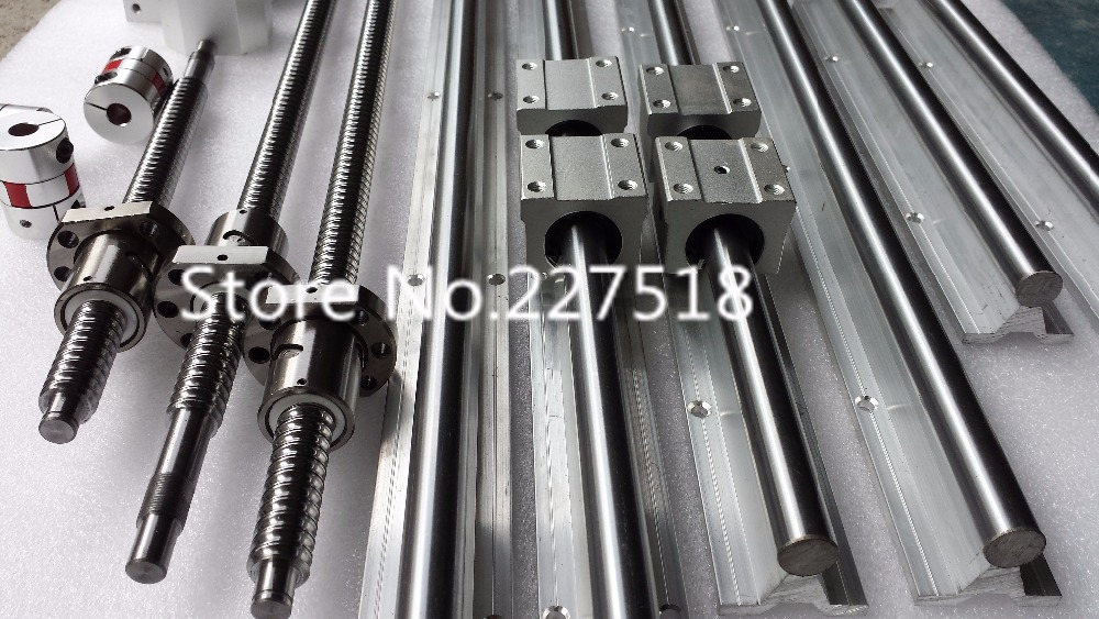 6 sets linear rail SBR16 L1550 1050 350mm SFU1605 1500mm ball screw