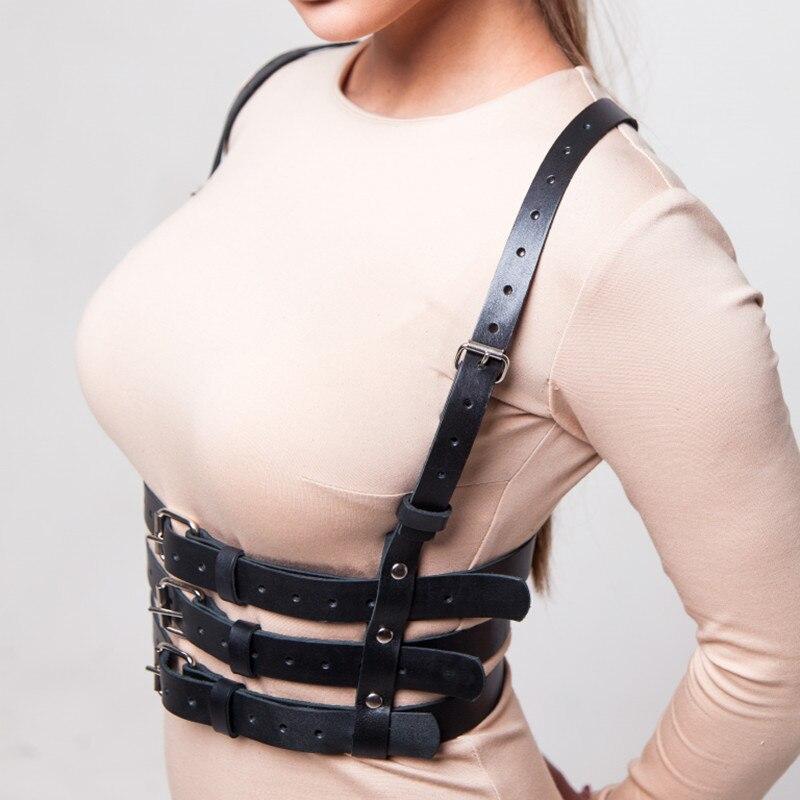 Sexy couro ligas cinto feminino lingerie preto arnês ajustável bondage corpo bdsm fetiche cosplay harajuku gótico espada cinto