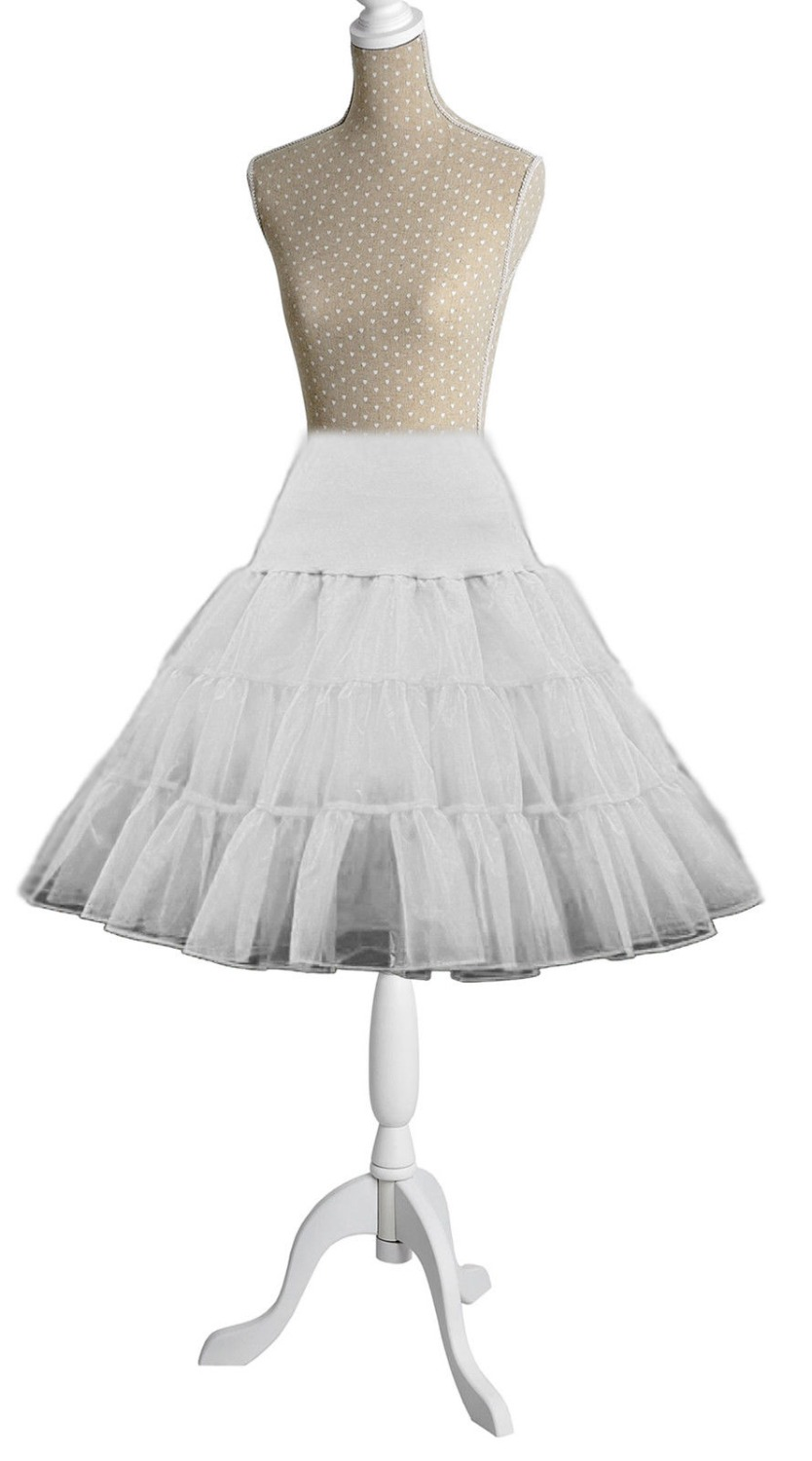 Retro Underskirt Vintage Short Bridal Wedding Dress Petticoat Crinoline Tulle Skirt Rockabilly Tutu Slips Jupon Mariage