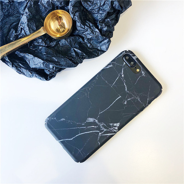 iPhone Matte Hard Marble Green Leaves Phone Cases for iPhone