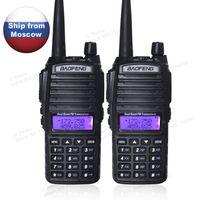 מכשיר הקשר 5pcs / הרבה מכשיר הקשר UHF & VHF 5W שני הדרך רדיו Baofeng UV-82 מהאוזנייה RU לניירות + (2)