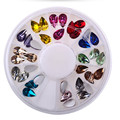 Multicolor 12 Color Water Droplets Acrylic Glitters Christmas Nail Art 3D Decoration Charm Studs Spike Jewelry Manicure Tool