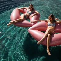 New Summer Inflatable Floating Row Pool Air Swimming ring Beach Foldable Swimming Pool Lips Lifebuoy Water fun Sports