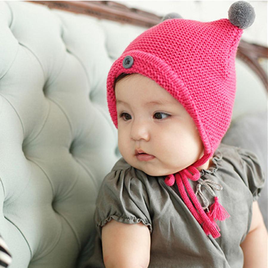Wholesale Christmas Gift Cute Acrylic baby Knit Hats babygirl caps newborn  photography props boina Bear hat and cap touca-in Hats   Caps from Mother    Kids ... 1658f287b93c