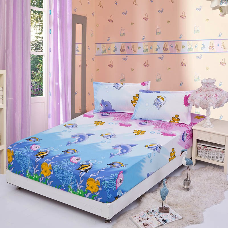 Home textile bed sheet sheet flower mattress cover printing bed sheet elastic rubber bedclothes 180*200cm summer bedspread band 14