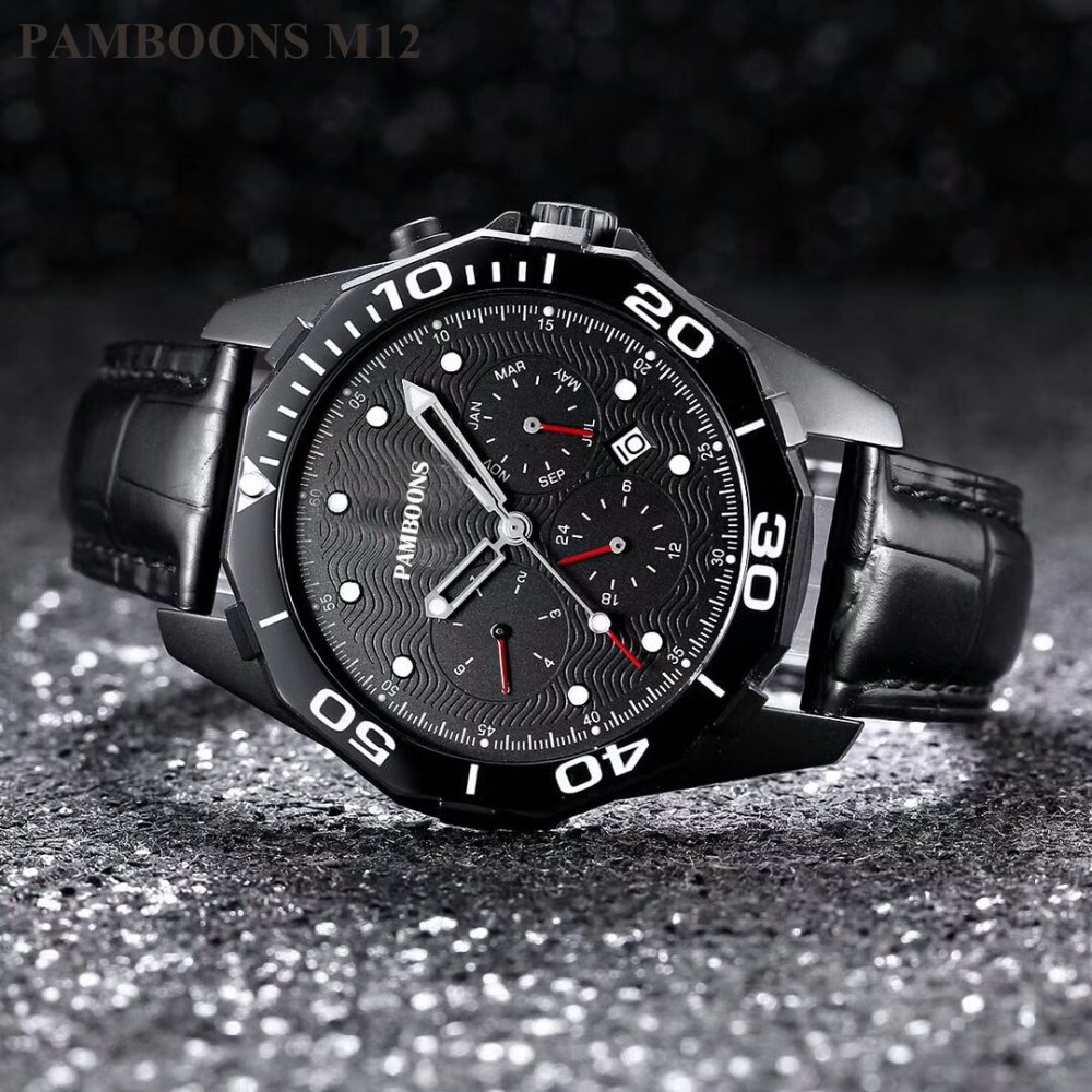 2018 good quality watch Men Sports Watch with Lat Date Month Day Calendar Big Dial Rose Gold Transformer Edition Watches