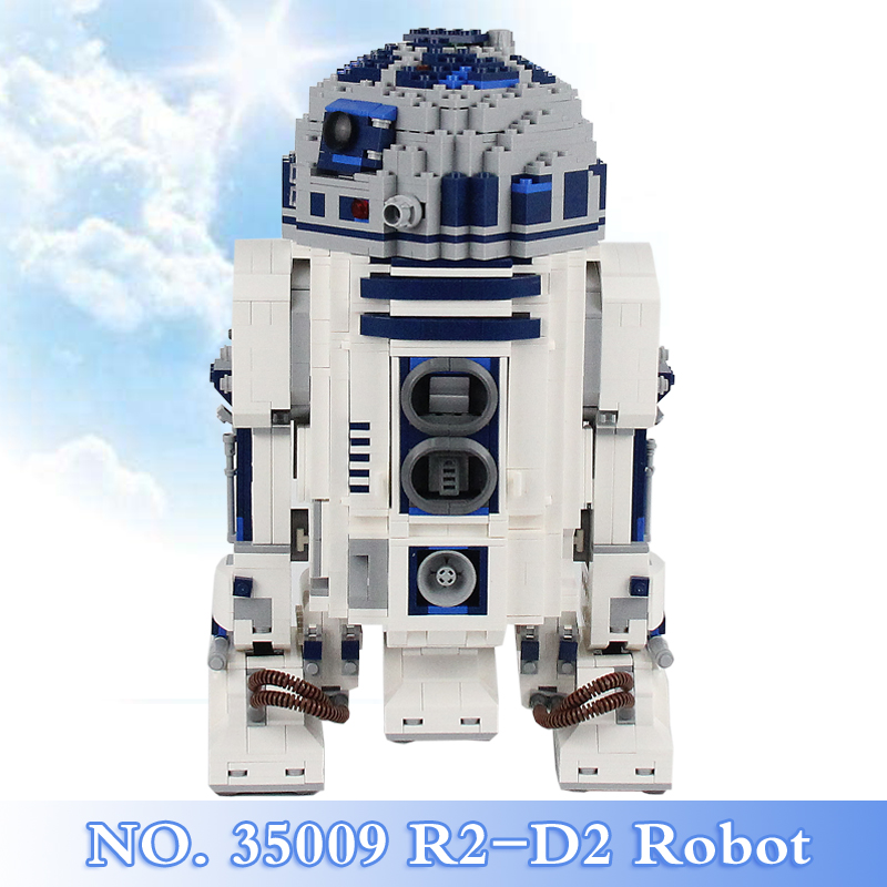 2018 New Star War Series 2137Pcs The R2-D2 Robot Figures Building Blocks Bricks Set Children Toy Gift Model Kit Compatible 10225