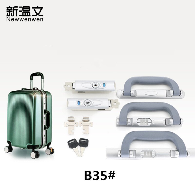 B35# Aluminum Frame Lock TSA Lock Luggage Suitcase Bag Code Lock  Combination Lock