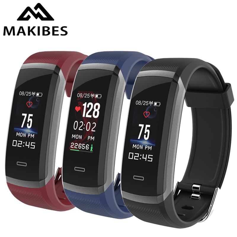 e6328e955141 € 13.5 50% de DESCUENTO|Makibes HR3 Smart Wristband Color pulsera Monitor  de ritmo cardíaco continuo salud Fitness Tracker Smart Band recordatorio ...