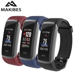 Makibes HR3 Wristband Del Braccialetto degli uomini di Cuore Continuo Tasso di Inseguitore di Fitness SmartBand per xiaomi iPhone7 Huawei PK GT101 regalo