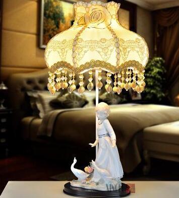 Европейский пастырской керамические декоративные лампы. Спальня ночники. Свадебный подарок lamp012