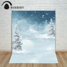 Novo natal abeto árvore fundos foto inverno fundo neve flocos de neve no inverno crianças photocall 10x10ft fotografia pano de fundo
