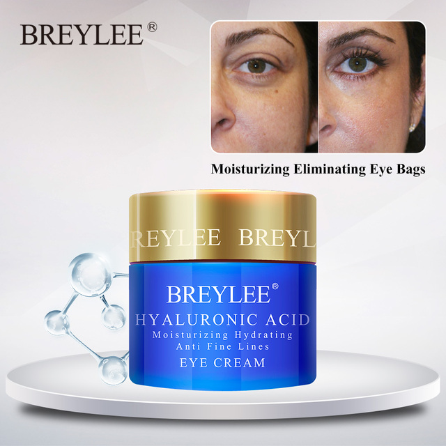 BREYLEE Hyaluronic Acid Eye Cream Moisturizing Eyes Serum Improve Dryness F Skin Care Eye Bag Remover