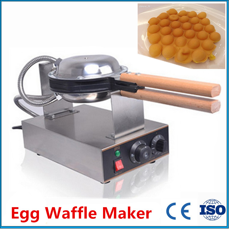 Hot Sale Hong Kong Egg Waffle Machine Electric Eggette Waffle Maker Commercial Waffle Baker Non-stick Egg Waffle Stove directly factory price commercial electric double head egg waffle maker for round waffle and rectangle waffle