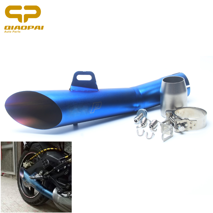 Modified Exhaust Pipe Motorcycle 52MM Laser GP Exhaust Muffler Clamp Escape Dirt Bike Muffler Pipe For Yamaha YZF R6 GY6 125 120 laser mark universial motorcycle motorcross dirt bike modified muffler sc carbon fiber exhaust pipe 61mm 51mm with connector