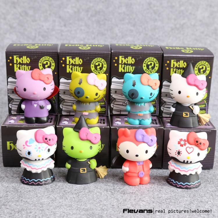 Hello Kitty Mystery Minis Limited Edition PVC Figures Toys Dolls 7cm 8pcs/set free shipping hello kitty toys kitty cat fruit style pvc action figure model toys dolls 12pcs set christmas gifts ktfg010