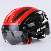 Jiepolly Cycling Helmet Magnetic Glasses Ultralight Integrally Molded Bicycle Helmet Casco Ciclismo Bike Accessories 54 58