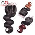 Brazilian Hair Ombre Closures Gossip Girl One Bundles Brazilian Ombre Lace Closure Human Hair Closures Brazilian Wavy Closure