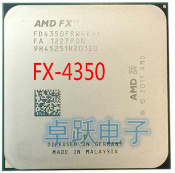 AMD FX 4350 4.2 GHz Quad Core CPU Processor Socket AM3+ FX 4350 free shipping
