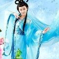 Синий традиционный женщины тан древняя китайская костюм красивый танец Hanfu костюм принцесса династии опера Hanfu платье