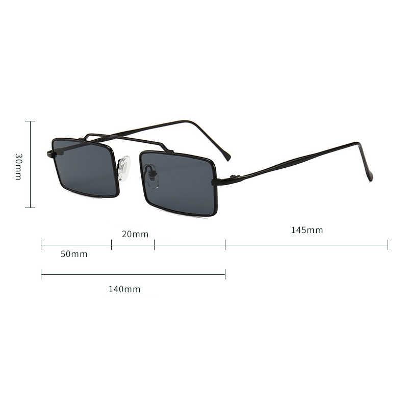 23a6aede58 ... Gafas de sol Retro rectangulares pequeñas mujeres Vintage 2018  diseñador de marca inspiradas gafas de sol ...