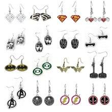 7 STYLE Star Trek Superman The Avengers earring for fans gift