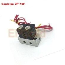 2-ходовой клапан 4,8 Вт пневматический алюминиевый электромагнитный клапан коллектора комплекты 2V025-06/08 Порты и разъёмы 1/8 ''Порты