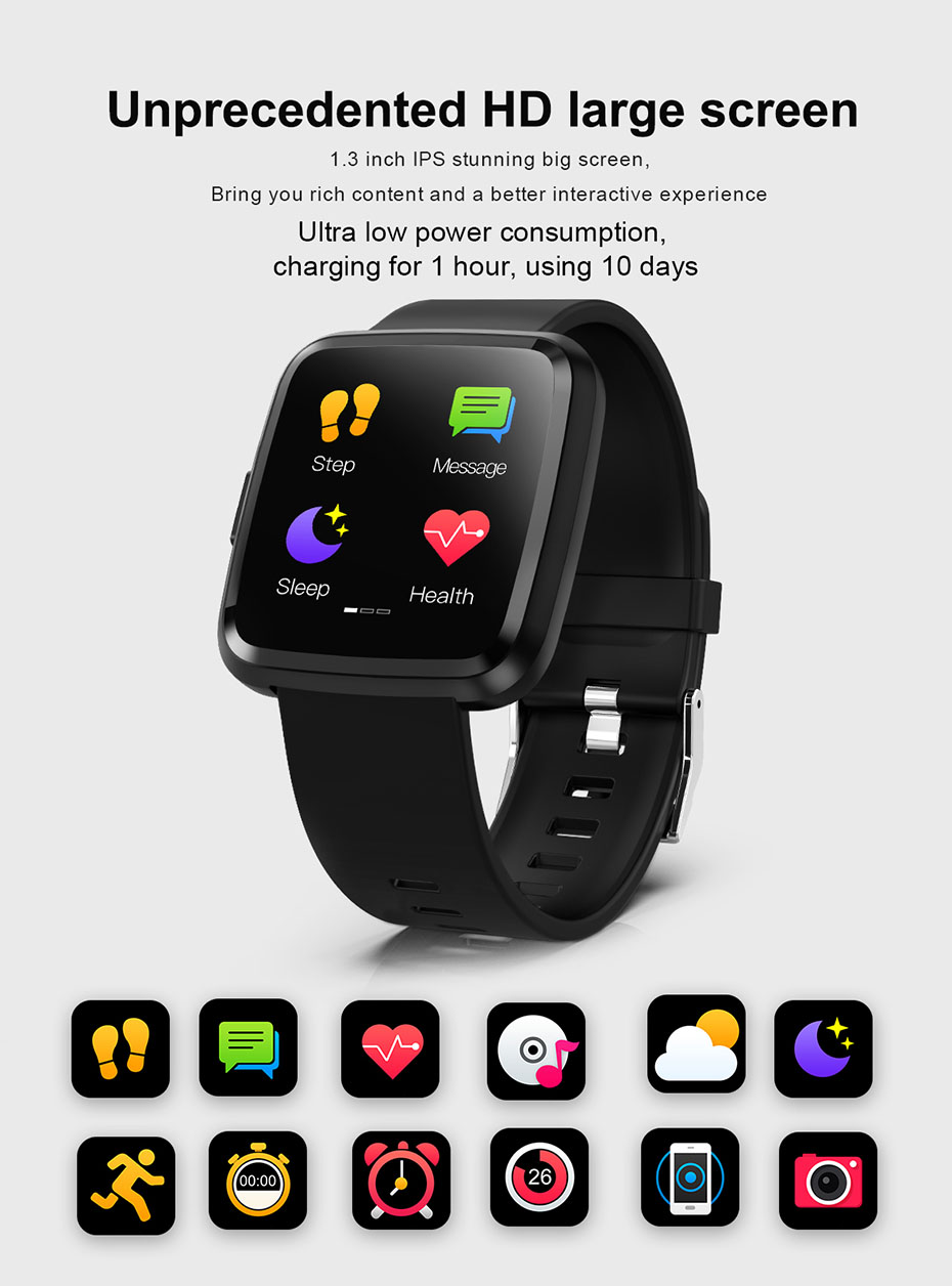 COLMI CY7 PRO Smart watch Full screen touch IP67 waterproof Bluetooth Sport fitness tracker Smartwatch For IOS Android Phone 3