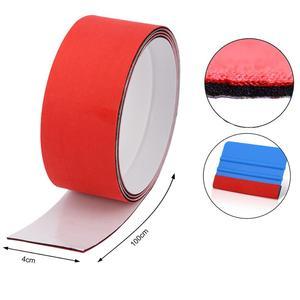 Image 2 - FOSHIO – grattoir à Film vinyle en Fiber de carbone, 100cm, 3 couches de protection en tissu imperméable pour vitres