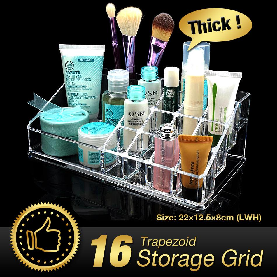 WITUSE Acrylic Makeup Organizer cosmetic make up clear acrylic organiser brushes lipstick holders storage box