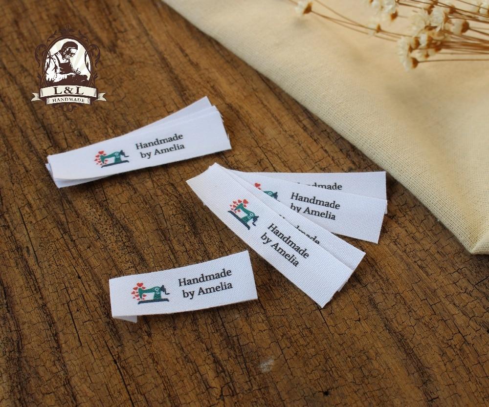 Custom flat folding tags brand labels sewing