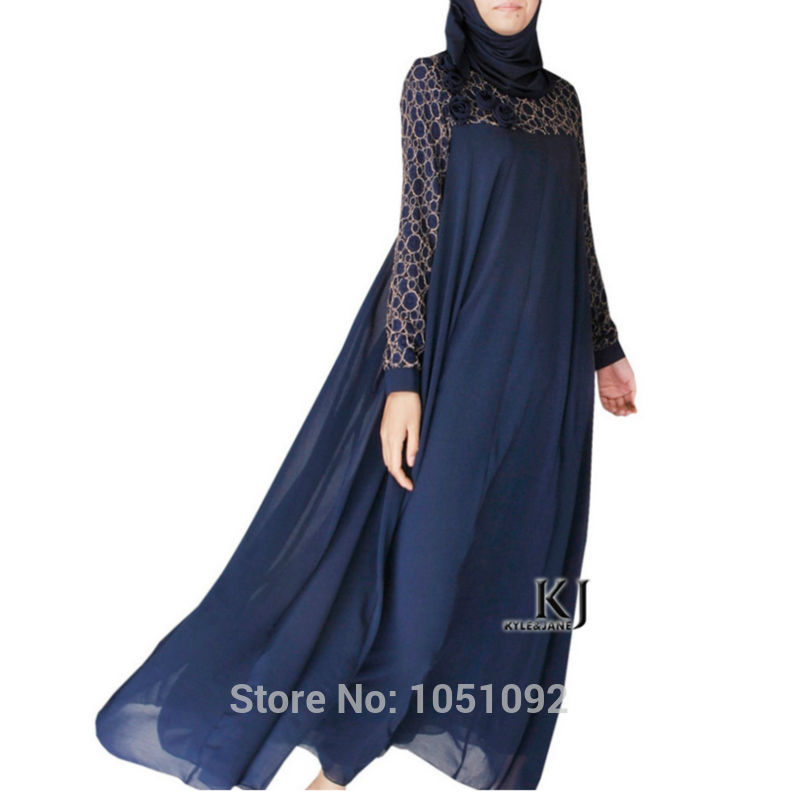 Islamic Clothing Bonnet Hijab Robe Femme Musulman Kaftan Plus Size 95% Cotton+5% Lycra Fabric Arabic Women Clothes Dresses Muslim Women 20150208
