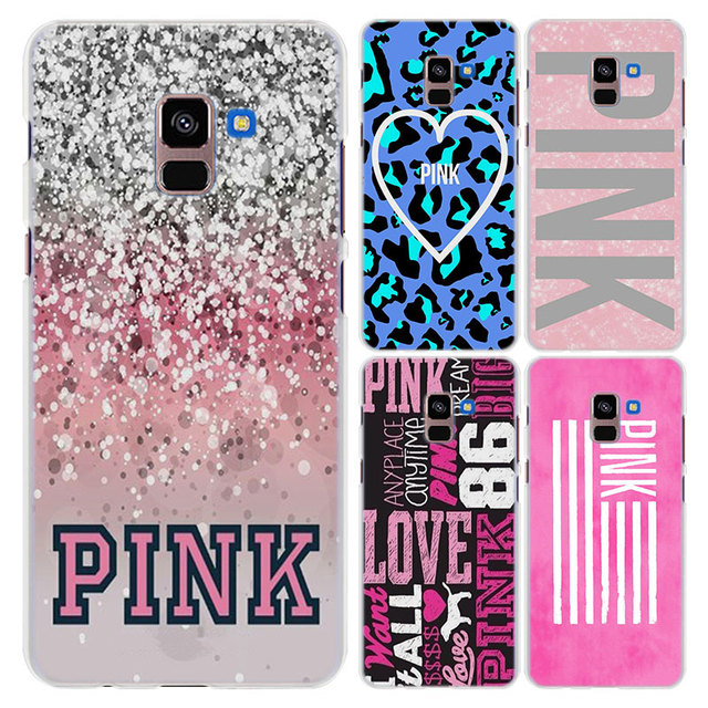 factory price 0057e e4772 US $1.85 38% OFF|for Galaxy A8+ case love pink girly pretty space style  hard clear frame back Case cover for Samsung A6 A6+ A8 A8+ 2018 A3 A5 A7-in  ...