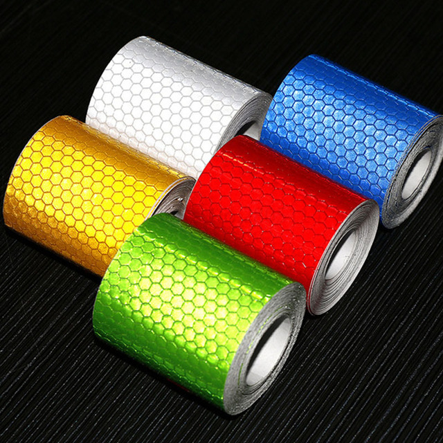 3m*5cm Bicycle Reflector Sticker Bike Bicycle Sticker Cycling Wheel Rim Reflective Stickers Reflective Film Stickers