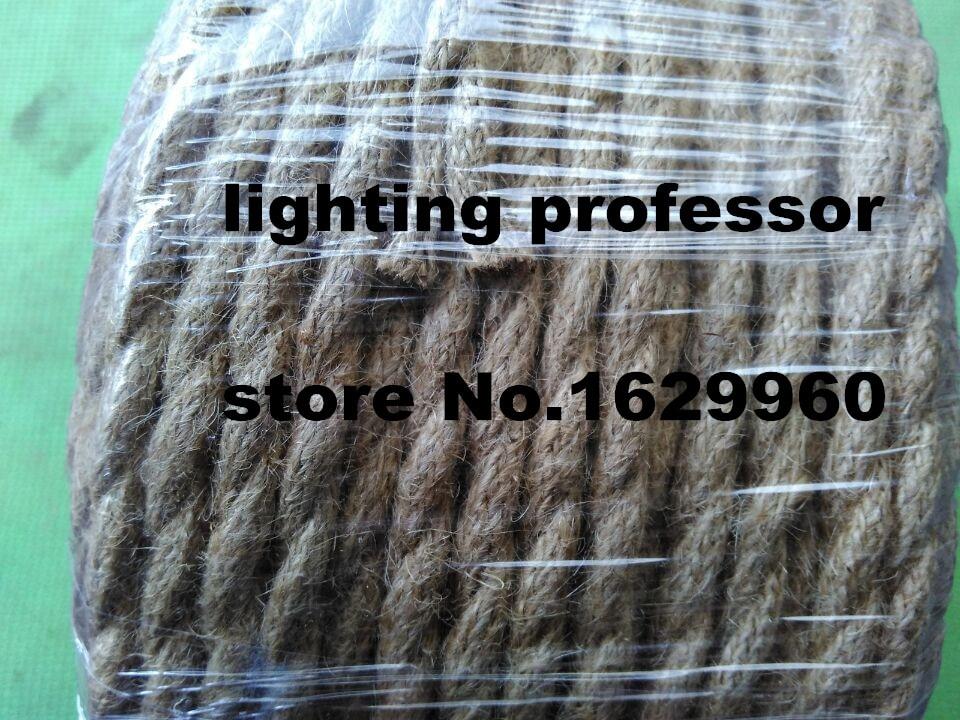100 m 2x0.75 Vintage corde fil torsadé câble rétro tressé électrique fil de tissu bricolage lampe pendante fil vintage lampe cordon - 5