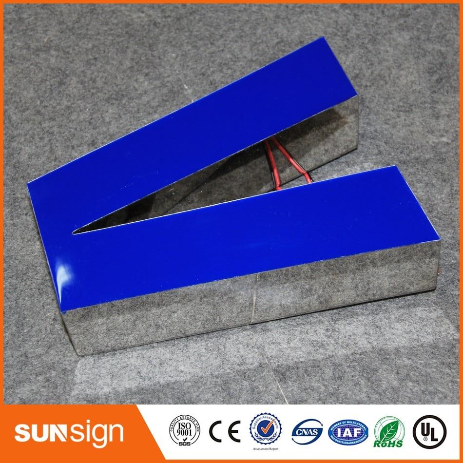 Custom Illuminated Store Sign Blue Light Frontlit Acrylic LED Neon Light Letter