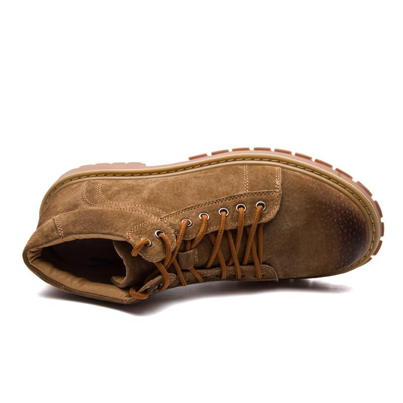 Moda Genuínos Preto cinza Homens Boots Couro Cowboy Ankle Botas marrom De Vestido Britânico Rendas Até Sapatos Inverno Ramialali Ocidental Casuais PdT1Hxqd