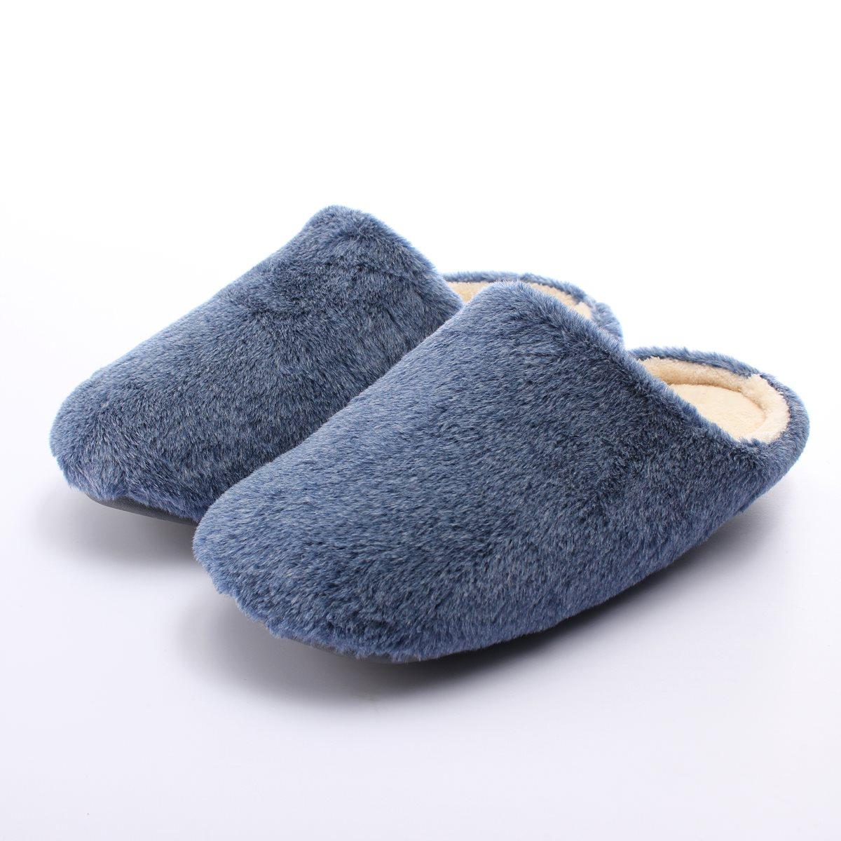 Men Winter Soft Slippers Home Plush Male Home Slippers Zapatos Indoor Man Warm Slippers Zapatos c4a64e