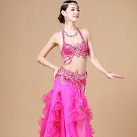Stage Dance Wear Hand Beaded High Quality Belly Dance Costume