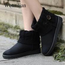 Mulheres moda botas De Pele Preto Ankle Boots Fenty Beleza Inverno Sapatilhas Quentes Bottes Austrália Suede Senhoras Bota Feminina