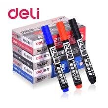 Deli 10pcs mix color Marker Pen writing supplies Head oil Plastic School & Office Stationery DIY CD Escolar pen 6881